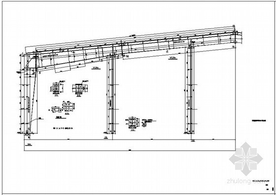 某43m超大跨度钢结构设计图纸