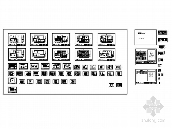 [原创]复古新中式复式三居室内设计CAD施工图-[原创]复古新中式复式3居室内设计缩略图