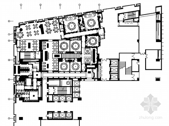 [北京]豪华连锁酒店中餐厅设计装修图