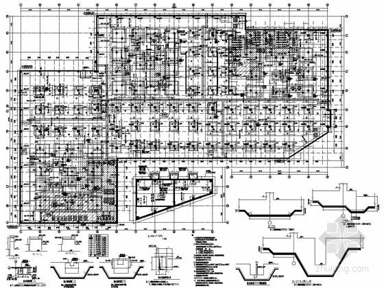 [北京]五层防屈曲支撑框架结构车间厂房结构施工图