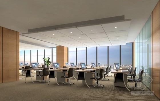 [上海]商业中心办公楼室内设计方案