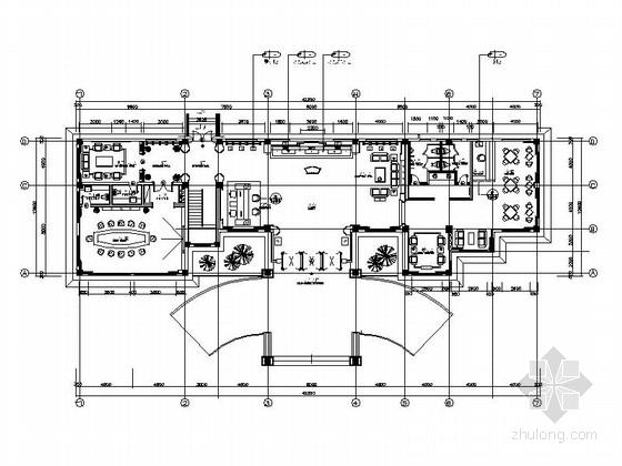 [重庆]新中式风格会所公共区域室内装修施工图(含效果)