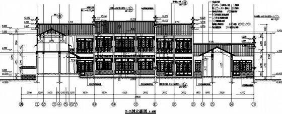 [山东]框架古建筑大院结构图