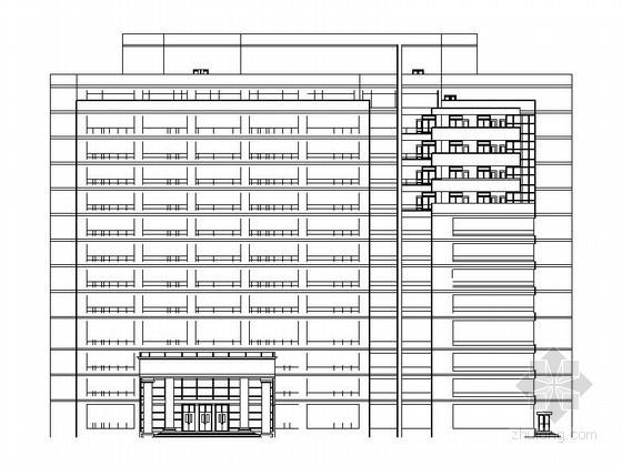 某武警医院十三层住院部建筑扩初图