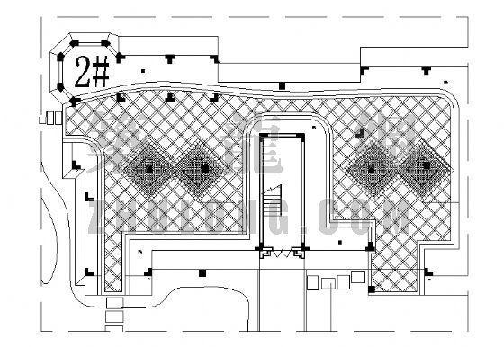 居住区铺装平面图(19)