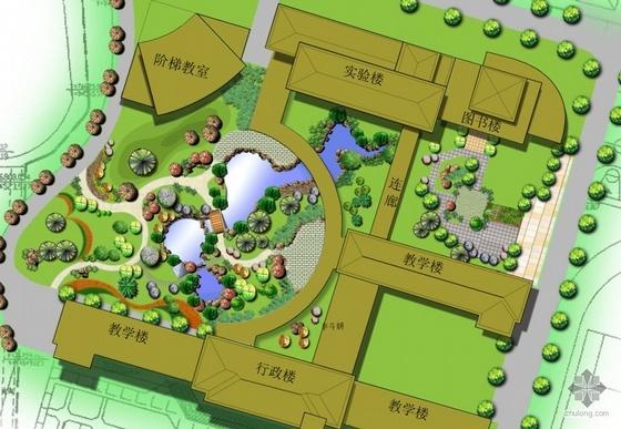 [台州]中学景观设计及施工全套图