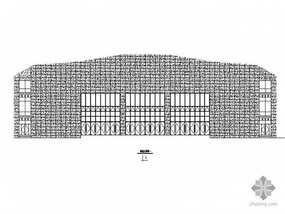 [桐城]某体育馆建筑外挂玻璃幕墙施工图