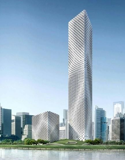 [天津]某企业超高层办公楼建筑方案文本(358米)