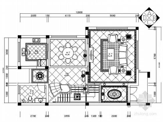 [杭州]简约欧式三层联排别墅室内装修图(含效果)