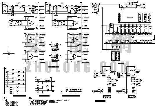中央空调水系统配电及控制原理图二