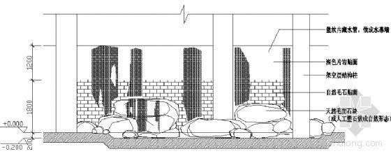 叠石水幕详图
