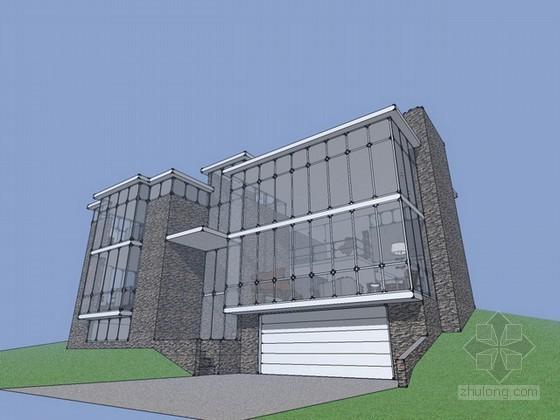 密斯凡德罗别墅sketchup模型