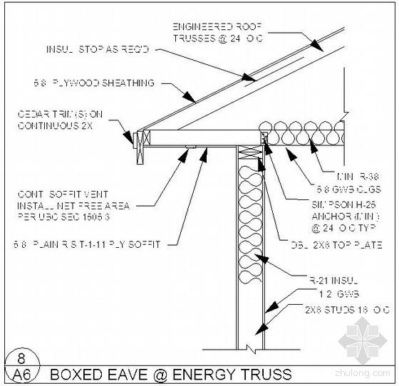 某木结构屋檐节点图