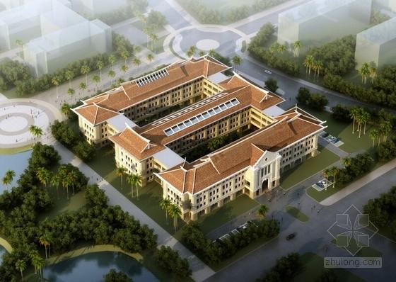 [厦门]嘉庚风格4层专业教学楼建筑设计方案文本(日字型布局)