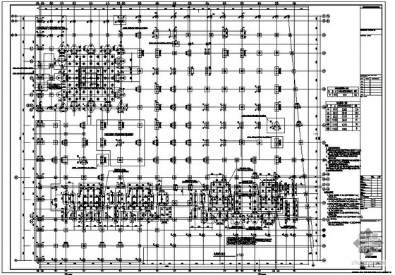某大型地下室结构设计图