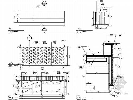 [江苏]新商业中心国际级现代办公空间装修设计施工图大样图