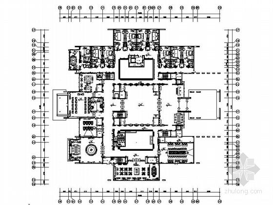 [苏州]环抱独墅湖水天一色苏式恬静会议酒店设计施工图(含方案及实景)