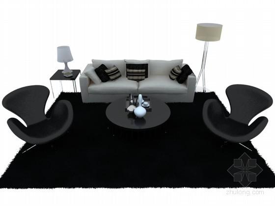 现代沙发3D模型下载
