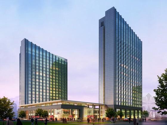 VR渲染材质素材资料下载-某现代商业大厦建筑3d模型下载