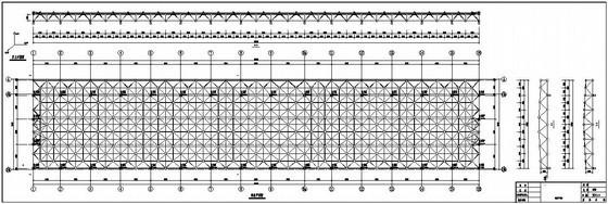 某钢结构网架屋面结构施工图