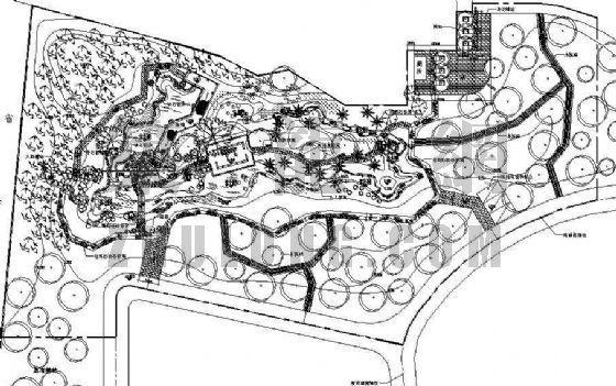 某停车场休闲景观施工图
