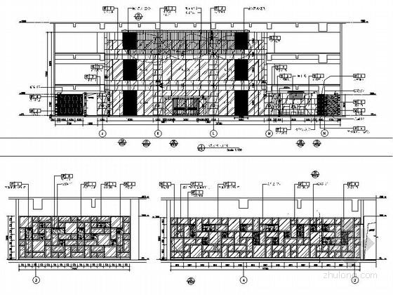 [四川]2.79亿夺标大厦改建四星级高档奢华酒店装修施工图(含方案)大堂立面图