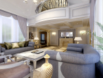 客厅3D模型欧式客厅资料免费下载