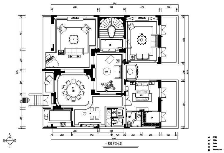 【浙江】混搭风格玫瑰半岛别墅设计施工图(附效果图)_1
