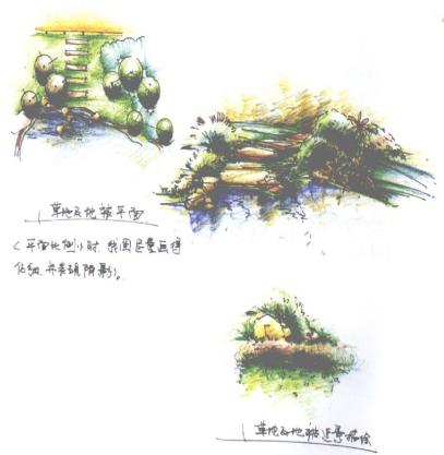 [彩铅]园林手绘效果图表现技法+彩色铅笔马克笔