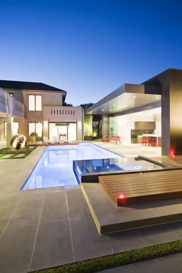 赶紧收藏!21个最美现代风格庭院设计案例_136