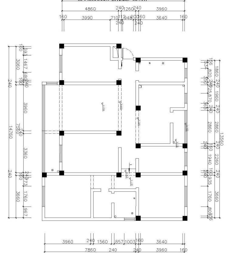 美式大三居室内装修施工图设计(附效果图)
