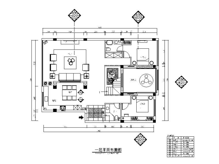 整套时尚简约风格复式楼CAD施工图(含效果图)