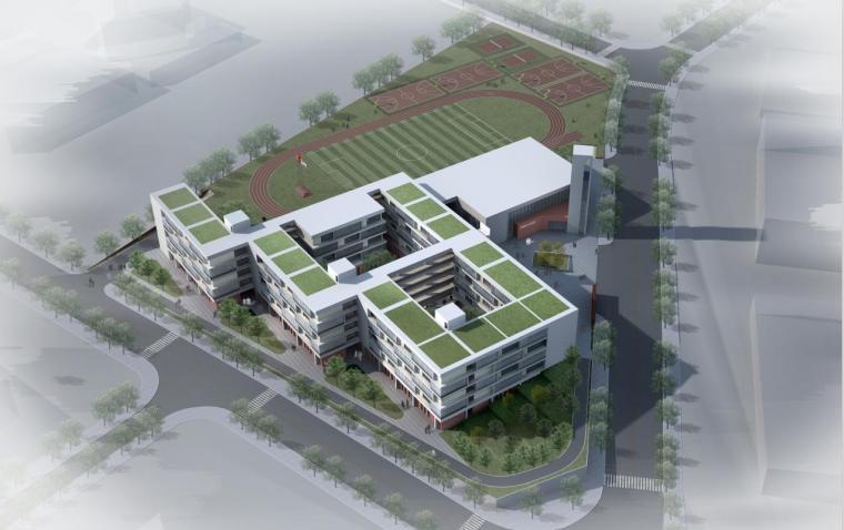 [广东]现代风格九年一贯制学校建筑设计方案文本(含CAD)