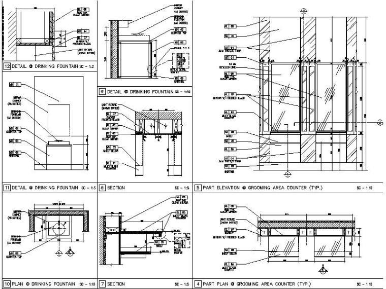 【超全】5600多套室内设计施工图大样节点剖面图合集_5