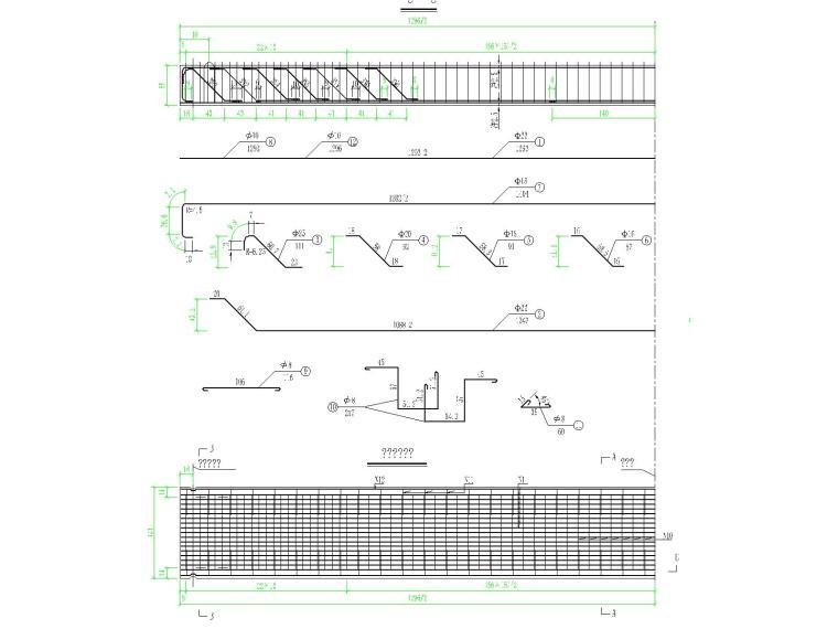 全长24米下部U型桥台独立小桥施工图设计
