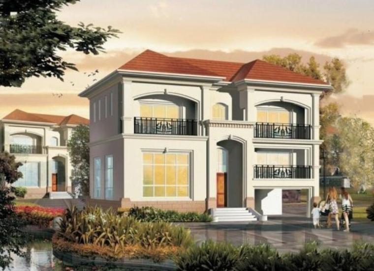 欧式风格二层别墅建筑设计(包含施工图)