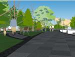 河滨公园景观设计(SU模型)