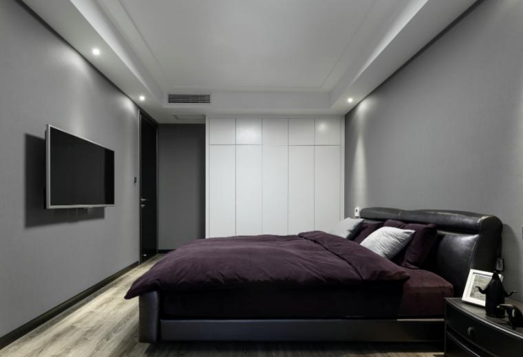 【江苏】简洁黑白灰空间样板房设计施工图(附效果图)_6