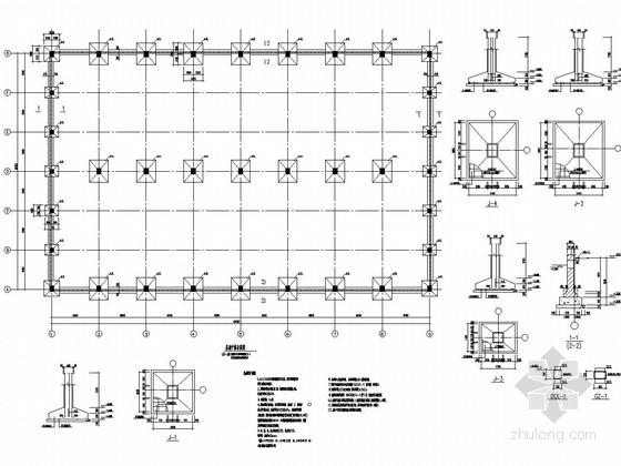 单层框架结构成品仓库结构施工图