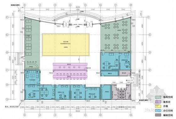[江西]现代风格国际汽车城销售中心规划设计方案文本-现代风格国际汽车城销售中心平面图