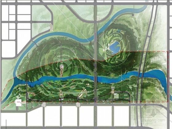 [西安]创意风格郊野公园景观概念设计方案