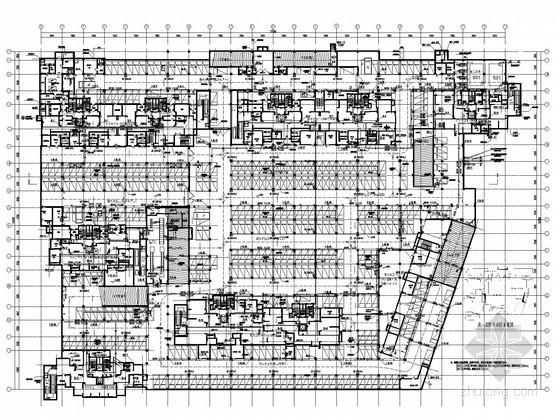 [安徽]高层住宅小区建筑给排水平面图(气体灭火)