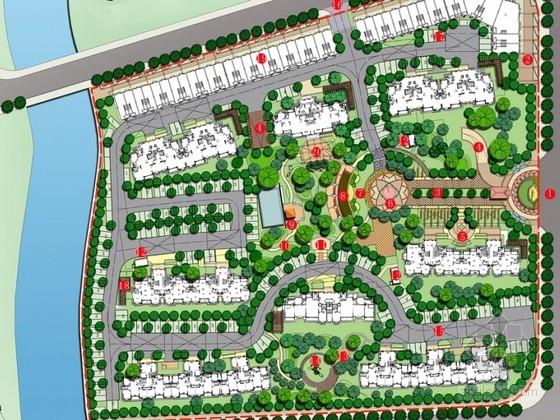 [上海]简欧风格住宅小区景观方案设计文本(原创)