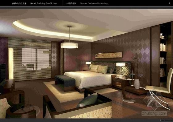 [上海]简约欧式小户型样板间软装方案(含效果图)卧室效果图