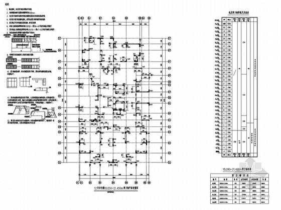 [四川]32层框支剪力墙结构住宅楼结构施工图
