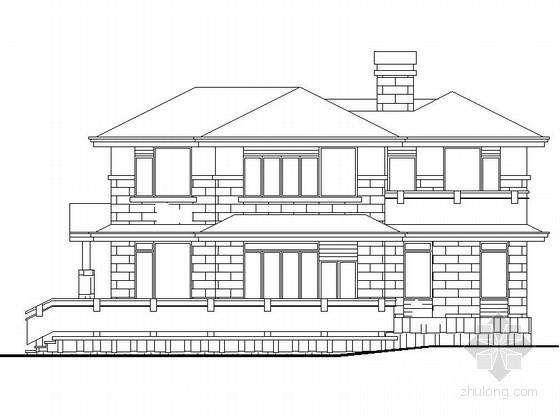 某二层南入口别墅建筑方案图(含效果图)