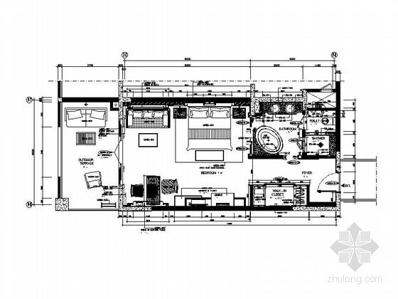 [云南]清新原木酒店式公寓样板间室内施工图(含效果图)