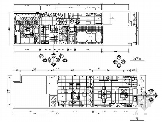 [上海]某现代风花园三层别墅室内装修施工图(含效果和设计文本)