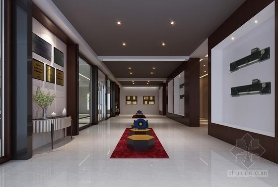[嘉兴]某企业办公楼大堂及展厅室内装修图(含效果图) 效果图
