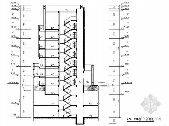 古典风格住宅小区规划设计方案剖面图